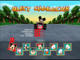 Mickey's Speedway USA  Nintendo 64 Select your character from many Disney favorites