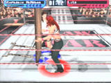 WWF Smackdown! 2: Know Your Role PlayStation Taking part in a tables match.