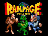 Rampage World Tour Nintendo 64 Title screen