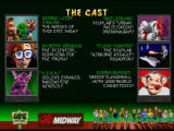 Rampage World Tour Nintendo 64 This screen shows the cast of characters