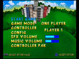 Rampage World Tour Nintendo 64 Main Menu - specifically for the console versions of the game