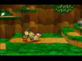 Paper Mario Nintendo 64 After defeating an enemy, bonus coins, HP and FP appear