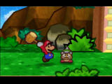 Paper Mario Nintendo 64 Don't stomp spiky enemies - whack 'em with your hammer instead!