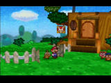 Paper Mario Nintendo 64 Mario safely returns back to the Goomba family's house
