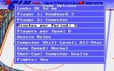 FaceOff! DOS Game options screen (VGA).