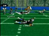 NFL Xtreme PlayStation Drilled by the defender.