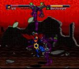 The Death and Return of Superman SNES Kryton's Last Son delivers a jumping kick