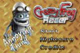 Crazy Frog Racer Game Boy Advance Title Screen