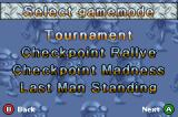 "Crazy Frog Racer Game Boy Advance Main Menu - includes ""Checkpoint Rallye"""