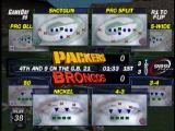 NFL GameDay 99 PlayStation The play-calling screen