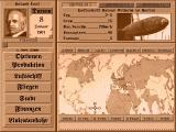 Zeppelin: Giants of the Sky DOS The main screen