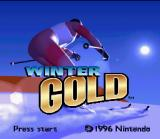 Winter Gold SNES Title screen.