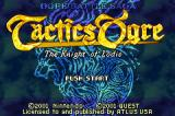 Tactics Ogre: The Knight of Lodis Game Boy Advance Title Screen
