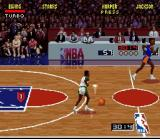 NBA Jam SNES Getting ready to run down the court