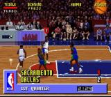 NBA Jam SNES Sacramento at Dallas in the first half