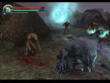 Altered Beast PlayStation 2 The glowing enemy is a 'gatekeeper' - you need to kill it to progress.