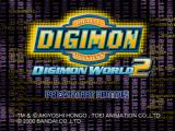 Digimon World 2 PlayStation Title screen.