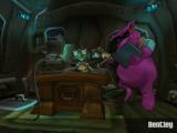 Sly Cooper and the Thievius Raccoonus PlayStation 2 In the van, you can select your mission, or check out movies and options with Bentley