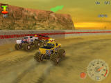 Monster Truck Fury Windows On the Desert Ring track, where there is not enough place for the four of us.