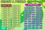 Dr. Sudoku Game Boy Advance Original Mode:  Select Puzzle, and its difficulty