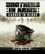 Brothers in Arms: Earned in Blood J2ME Title screen