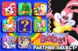 Tiny Toon Adventures: Buster's Bad Dream Game Boy Advance Choose your partner