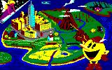Pac-Land Amstrad CPC Bird's eye view of Pac-Land