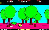 Pac-Land Amstrad CPC Walking through a forest