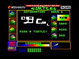 Teenage Mutant Ninja Turtles Amstrad CPC Which turtle do you want to play as?
