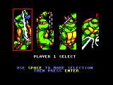 Teenage Mutant Ninja Turtles Amstrad CPC Turtle Selection