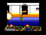 Teenage Mutant Ninja Turtles Amstrad CPC Fire in the elevator