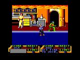 Teenage Mutant Ninja Turtles Amstrad CPC Say hello to Rocksteady