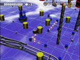 Flipnic: Ultimate Pinball PlayStation 2 Your ball floats in the air here as you guide it around the grid.