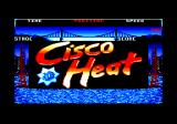 Cisco Heat: All American Police Car Race Amstrad CPC Title screen