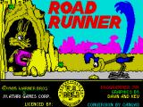 Road Runner ZX Spectrum Title screen