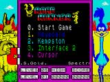Road Runner ZX Spectrum Main menu