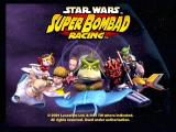 Star Wars: Super Bombad Racing PlayStation 2 Yousa thinken yousa fasta than a Gungan!?!  Boss Nass takes center stage on the title screen.