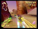 Star Wars: Super Bombad Racing PlayStation 2 Wizards! Anakin Skywalker finds himself at the tail bumper-to-bumper traffic.