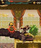 Prince of Persia: The Two Thrones J2ME Riding on top of a dragon, preparing for a speed kill.