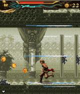 Prince of Persia: The Two Thrones J2ME The sands of time have been activated, slowing down the environment.