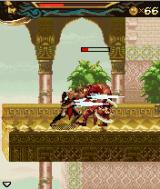 Prince of Persia: The Two Thrones J2ME The prince has many combos, he slices his opponent with a few quick flashes here.