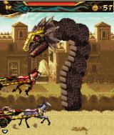 Prince of Persia: The Two Thrones J2ME Another chariot race, but now with a dragon and fireballs.