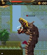 Prince of Persia: The Two Thrones J2ME Fighting inside the mouth of a dragon.