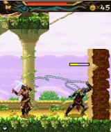 Prince of Persia: The Two Thrones J2ME You can block incoming attacks by crossing your swords.