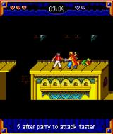 Prince of Persia: Harem Adventures J2ME You can parry attacks until you see a chance to strike.