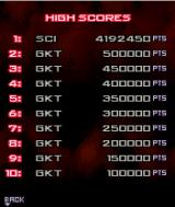 War of the Worlds J2ME High scores screen