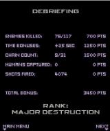 War of the Worlds J2ME End of level statistics