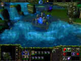 Warcraft III: The Frozen Throne Windows Pretty Waterfalls but a poor defensive position.