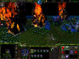 Warcraft III: The Frozen Throne Windows The assault has gone well, the village is burning to the ground!