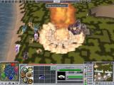Empire Earth II Windows Eager to show my enemy who is boss, one of their City Center goes down in a nuclear fireball!